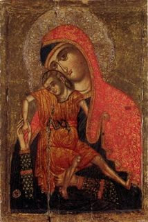 Virgin Mary of Kykkos - Cyprus century Byzantine Icons, Byzantine Art, Russian Icons, Russian Art, Religious Icons, Religious Art, Madonna, Christian Artwork, Religious Paintings