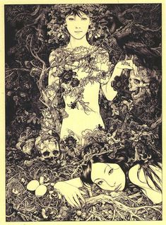 Vania Zouravliov creates intricate illustrations inspired by folklore