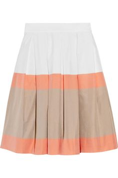Jonathan Saunders Padbury striped cotton skirt