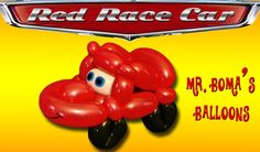 Red Race Car Balloon Animal Tutorial (Balloon Twisting & Modeling #7)