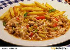 Majonézové kuřecí nudličky recept - TopRecepty.cz Japchae, Beef, Ethnic Recipes, Meat, Ox, Ground Beef, Steak