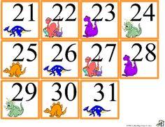 Dinosaur Calendar Set (free)