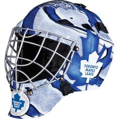 Franklin Sports GFM 1500 NHL Goalie Face Mask - Show off your official NHL colors by playing street hockey in this Franklin Sports GFM 1500 NHL Goalie Face Mask . This goalie face mask comes in your. Hockey Helmet, Hockey Goalie, Football Helmets, Ice Hockey, Street Hockey, Steel Cage, Goalie Mask, Toronto Maple Leafs, Detroit Red Wings