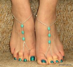 Hey, I found this really awesome Etsy listing at https://www.etsy.com/listing/187384801/silver-turquoise-barefoot-sandals-slave