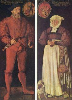 Porträts des Zürcher Pannerherren Jacob Schwytzer und seiner Ehefrau Elsbeth Lochmann, by Tobias Stimmer 1564
