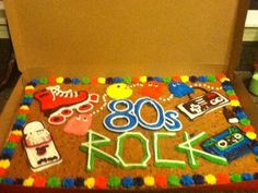 80s Cake My Cousin Had From Great American Cookie Co Birthday Parties 80th