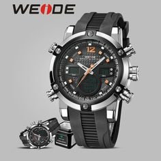 >> Click to Buy << WEIDE luxury brand genuine  quartz sports  watch waterproof  reloj silicon watches alarm  clock relogio automatico masculino  #Affiliate