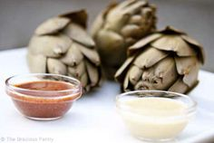 Clean Eating Artichokes With Non-Butter Dip this is probably one of the best cooking blogs i've seen with healthy recipes.