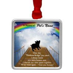 Rainbow Bridge Memorial Poem for Pigs Ornament