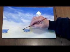 ▶ How to paint a Lighthouse in Watercolor - Step 3: Adding in the Ocean - YouTube