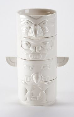 Stacking Totem Bowls. These are awesome.