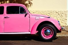 i think this is the only time a car can be pink :)