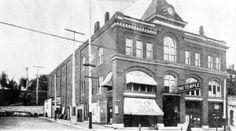 The Temple Theater at Broadway and Easton streets was built by the IOOF to serve the organization as a meeting hall. The main feature of the building was an elaborate theater for live shows and events. It was managed by W.M. Sauvage, who also worked in the outdoor advertising field and served as Alton mayor. The street level of the building, which was razed in 1973 after a fire, was rented out to a variety of shops, including a Crivello Fruit Market and a cigar store.