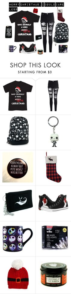 """""""Yule Shoot Your Eye Out"""" by falloutgirllovesnicodiangelo ❤ liked on Polyvore featuring Glamorous, Funko, St. Nicholas Square, Converse, Disney and Collection XIIX"""