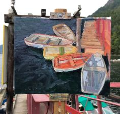 Rowboats at Burgoyne park Saltspring Beautiful Places, Paintings, Park, Paint, Painting Art, Parks, Painting, Painted Canvas, Drawings
