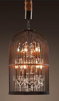 birdcage with chandelier inside restoration hardware lighting
