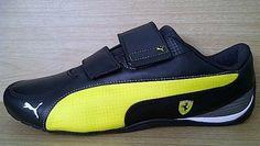 Kode Sepatu: Puma Ferrari DriftCat 5 Black Yellow Perf Ukuran Sepatu: 42 Harga: Rp. 710.000,-  Untuk pemesanan hub 0831-6794-8611 Puma Original, Pumas Shoes, Sneakers, Baby, Fashion, Tennis, Moda, Slippers, Fashion Styles
