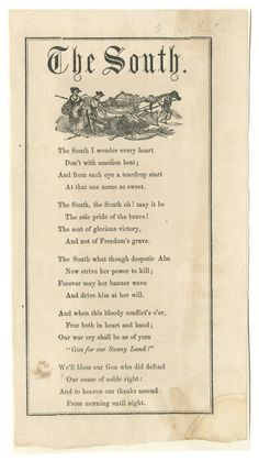 The South. (bsvg501695) - American Song Sheets - Duke Libraries