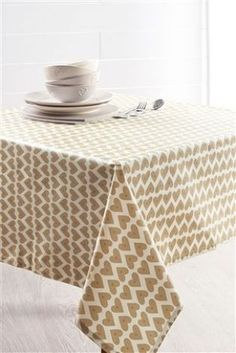 Natural heart Wipe Clean Tablecloth from Next