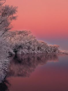 Winter Sunrise over the south fork of the Snake River, Idaho...Beautiful!