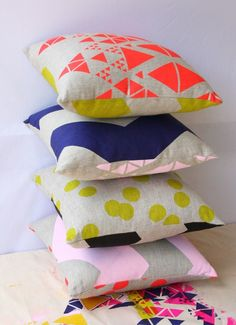 The Print Society neon pillows