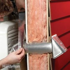 Replace a Broken Dryer Vent Cap .Replace a broken dryer vent cap simply and quickly. Disconnect the through-wall duct and replace the duct and cap together. Dryer Lint Cleaning, Dryer Lint Trap, Cleaning Hacks, Cleaning Checklist, Dryer Vent Installation, Dryer Vent Cover, Smelly Washing Machines, Dyi, Easy Diy