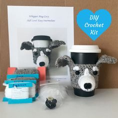 Crochet Gifts - Crochet Kit - Amigurumi Kit - DIY Craft Project - DIY Kits - Crochet Dog Pattern - Gift for Crocheter  - Hooked by Angel