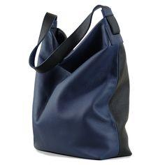 Black darkblue genuine leather hobo bag - crossbody leather bag, slouchy leather bag, big hobo bag, black tote bag by toyokobags on Etsy