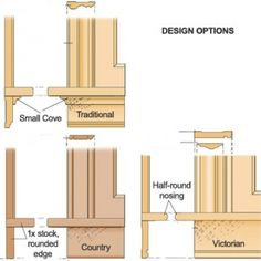 How to install window trim using the wrap around and stool and apron methods. Rosette and plinth blocks are also discussed regarding window casing.