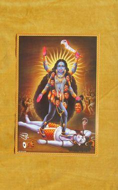 Mother Kali, Divine Mother, Indian Illustration, Shiva Parvati Images, Vintage Style, Vintage Fashion, Kali Goddess, Esoteric Art, Shiva Art