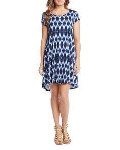 Karen Kane Maggie Ikat Print Dress | Bloomingdale's