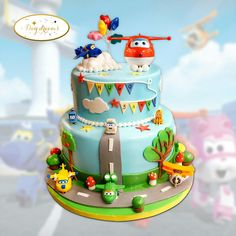 Super Wings cake by Day Dreams