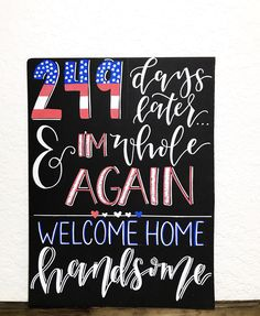 Welcome Home Boyfriend, Welcome Home Signs For Military, Welcome Home Soldier, Welcome Home Daddy, Welcome Home Parties, Marine Homecoming, Military Homecoming Signs, Airforce Wife, Military Wife