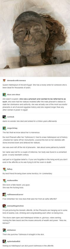 That's cool how she did an amazing job. Then some jerk tries to erase her from history and records. Some guys, not all, are trying to make it harder for women. Keep fighting the good fight for equality ladies and gentlemen. Tumblr Stuff, Tumblr Posts, The More You Know, Good To Know, Fangirl, Faith In Humanity, History Facts, Tumblr Funny, Make Me Smile