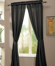 Take a look at this Black Berkshire Curtain Panel - Set of Two by Victoria Classics on #zulily today!