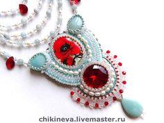 Beautiful embroidered jewelry by Irina Chikineva | Beads Magic