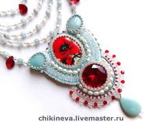 Beautiful embroidered jewelry by Irina Chikineva | Beads Magic