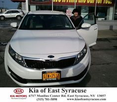 I purchased a second Kia from Kia of East Syracuse because of the good service I received on my first car. Ed made the deal personal and easy. - Mary Depietro, Saturday, November 29, 2014 http://www.kiaofeastsyracuse.com/?utm_source=Flickr&utm_medium=DMaxxPhoto&utm_campaign=DeliveryMaxx