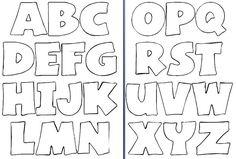 Molde de letras para imprimir y recortar - Imagui: