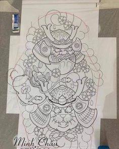 Tattoo Japanese Style, Japanese Flower Tattoo, Traditional Japanese Tattoos, Japanese Tattoo Designs, Dragon Tattoo Stencil, Tattoo Stencils, Daruma Doll Tattoo, Biomechanical Tattoo, Asian Tattoos