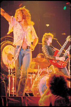 Only Robert Plant could rock a feminine floral top