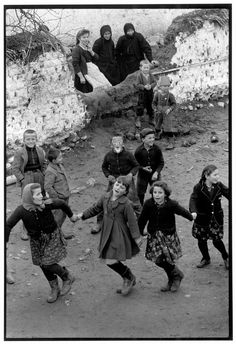by Constantine Manos Girls dancing at a village festival, Epirus, Greece, 1964 Magnum Photos, Greece Photography, History Of Photography, Village Festival, Greece Fashion, Greece Pictures, Generation Photo, Greek History, Cultural Beliefs