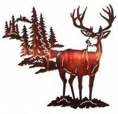 """Acquire excellent pointers on """"metal tree wall art decor"""". They are actually accessible for you on our web site. Metal Wall Art Decor, Metal Tree Wall Art, Metal Wall Sculpture, Wall Sculptures, Metal Art, Deer Silhouette, Laser Cut Metal, Mule Deer, Metal Walls"""
