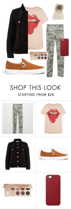 """""""edge casual"""" by faith-32 on Polyvore featuring Aerie, MadeWorn, River Island, Madewell, ZOEVA and Apple"""