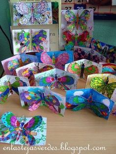 great insect pop-up cards great insect pop-up cards Source by balikfileto The. great insect pop-up cards great insect pop-up cards Source by balikfileto The post great insect pop-up cards appeared f Spring Art Projects, School Art Projects, Spring Crafts, Projects For Kids, Art Education Projects, Project Ideas, Kindergarten Art, Preschool Art, Arte Elemental