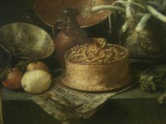 António de Pereda y Salgado, Natureza Morta em Interior de Cozinha com Legumes, Museu Nacional de Arte Antiga, em Lisboa particolare Food History Jottings
