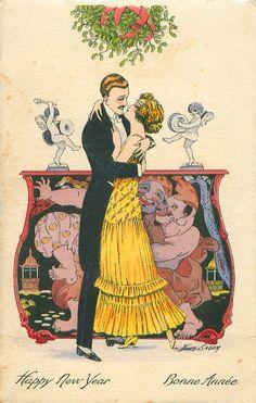 Vintage Christmas -   Xavier Sager.  Tuck Postcard