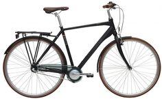 4000,- EBS Street 7G Sort<BR> - 2016 Herre citybike cykel