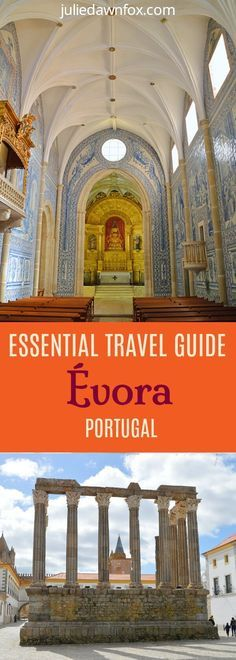Evora travel guide. Click to read about must see and secret sights, traditional restaurants, best Evora hotels and practical travel tips #Portugal #Alentejo #Evora #Hotels #travel #traveltips #culture