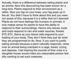 Why eating plants is better than eating animals.